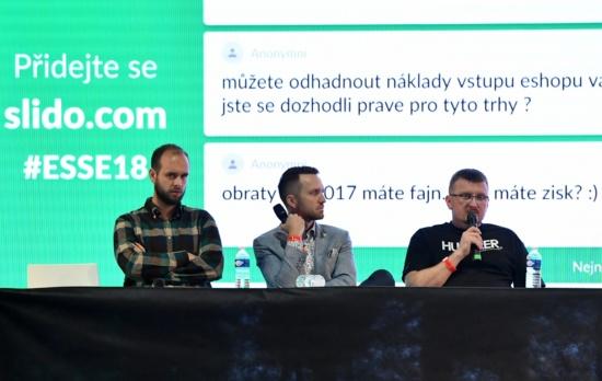 Jaroslav Chrapko, Milan Polák a Petr Gürth odpovídají na dotazy podané prostřednictvím aplikace Sli.do
