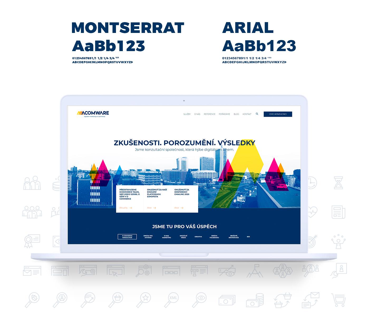 Acomware-konzultacni-spolecnost-fonty-brand